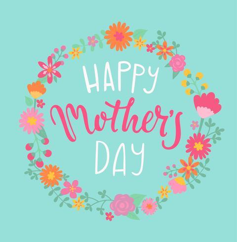 Feliz dia das mães cartão. vetor