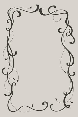 Quadro decorativo do vintage e beiras art. Caligrafia, vetorial, ilustração, EPS10 vetor