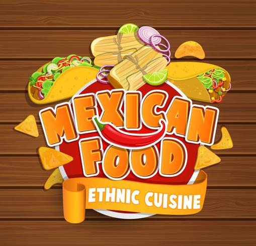 comida mexicana vetor