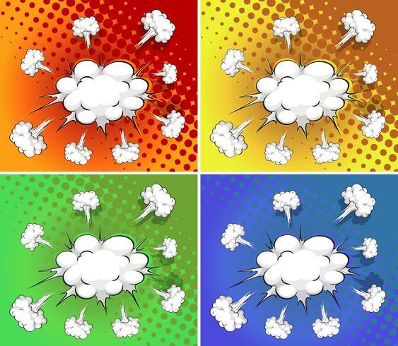 Explosão de nuvens vetor