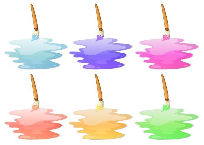 Seis opções de pintura vetor