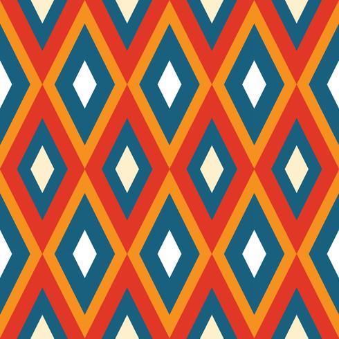 Losango geométrico sem costura vetor