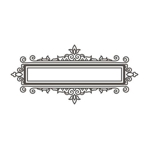 Elemento de design de moldura e decoração da página. vetor