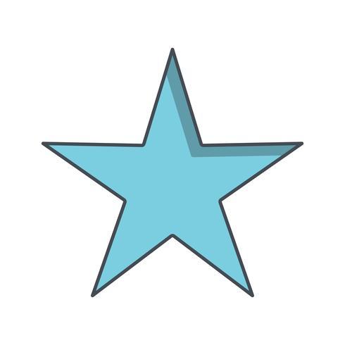 Estrela, vetorial, ícone, ilustração vetor