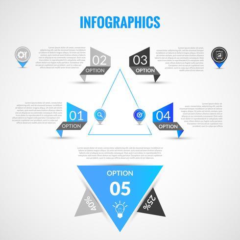 Modelo de infográficos de papel vetor