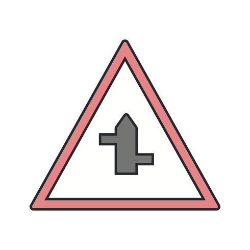 Vector menor cross roads da esquerda para a direita