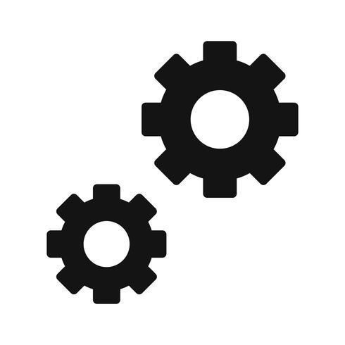 Ícone de configurações do vetor