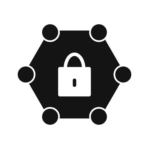 Ícone de rede protegida de vetor