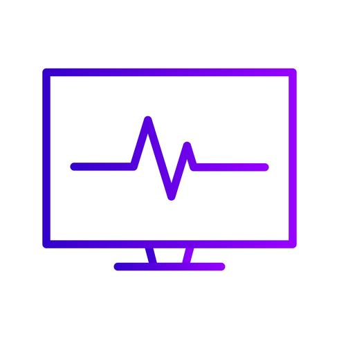 Vector ícone de ECG