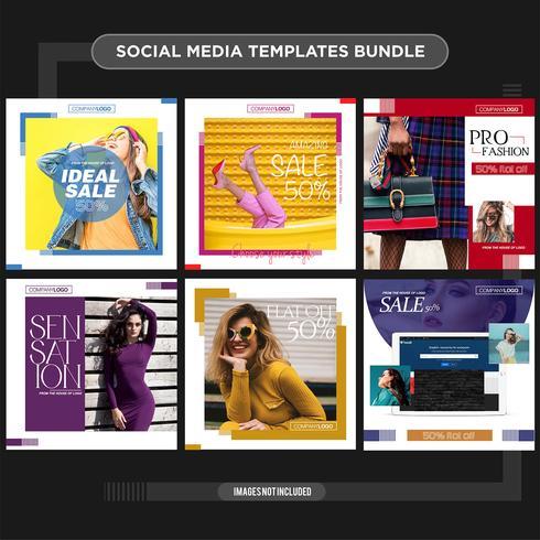Múltiplas mídias sociais template kit booster.sale e desconto banner, adequado para sua promoção vetor