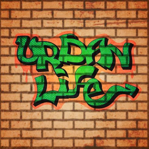 Fundo da parede de graffiti vetor
