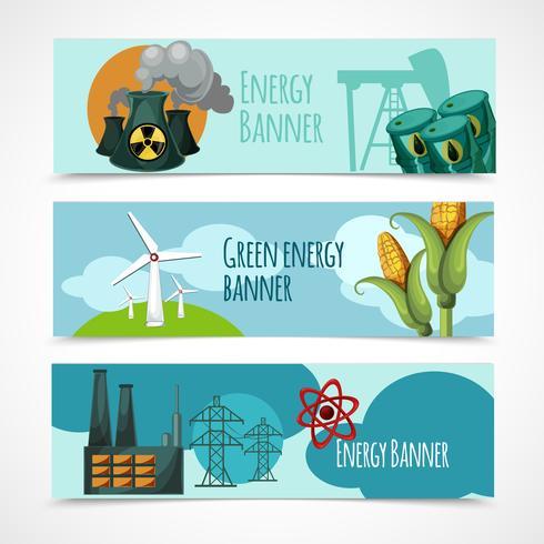 Conjunto de Banner de energia vetor