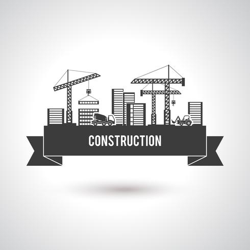 Poster de construção de construção vetor