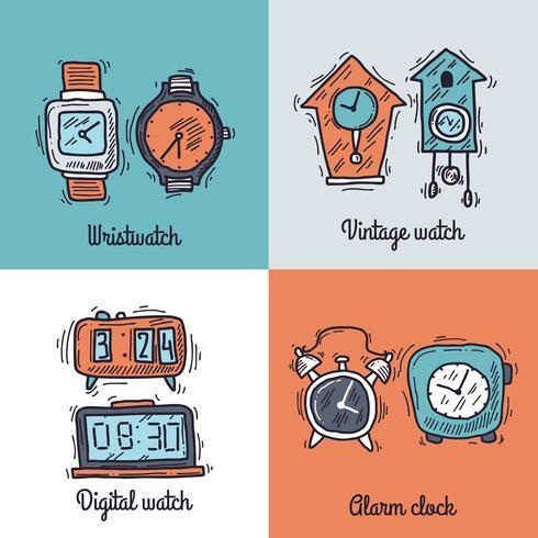 Conceito de design de relógio vetor