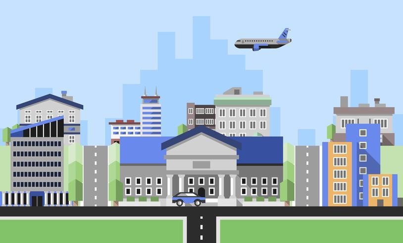 Fundo de edifícios de escritórios vetor