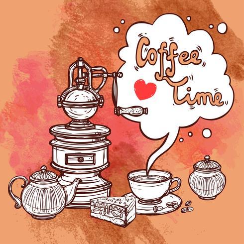 Fundo de café vetor