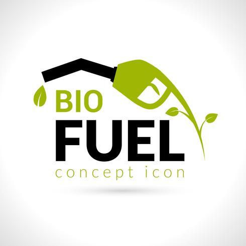 conceito de bio combustível vetor