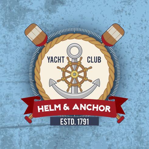 Vintage náutico do emblema vetor