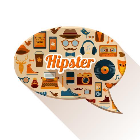 Conceito Social Hipster vetor