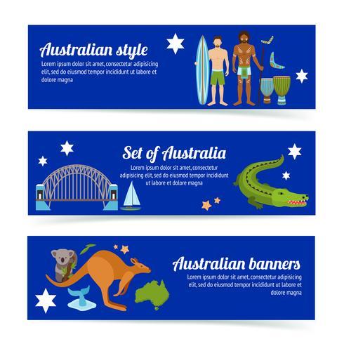 Conjunto de Banner da Austrália vetor