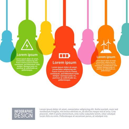 Conjunto de infográficos de electricidade vetor