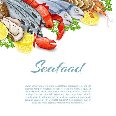 Fundo de produtos de frutos do mar vetor