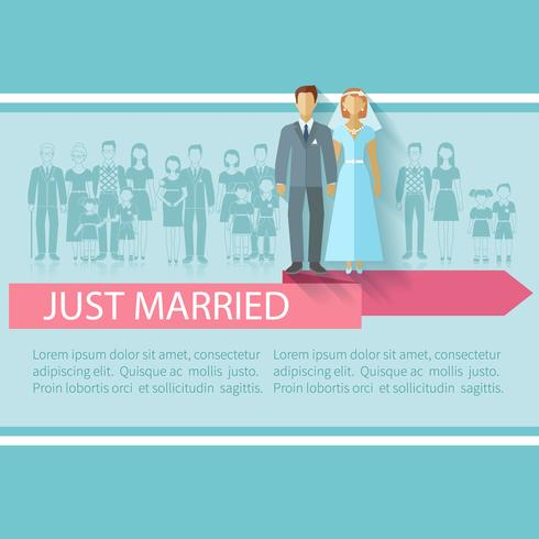 Poster de convidados de casamento vetor