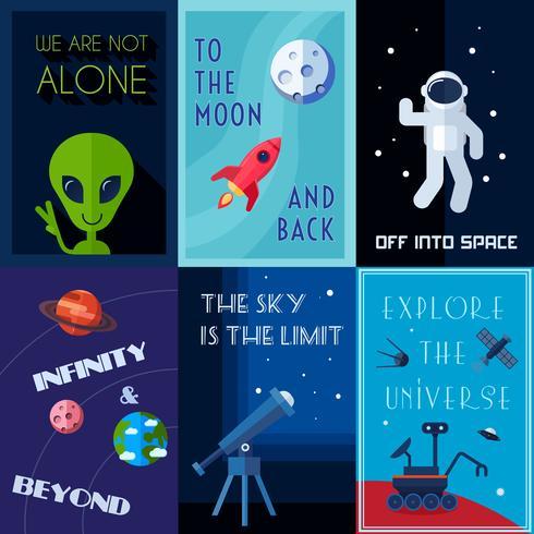 Conjunto de Poster Espacial vetor