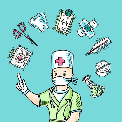 Conceito de design médico vetor