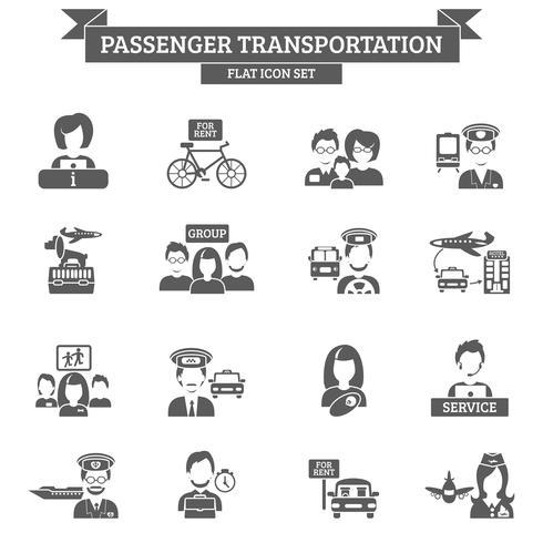 Ícone de transporte de passageiros vetor