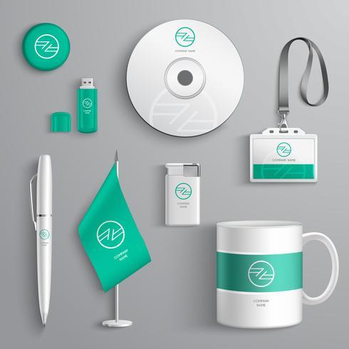 Design de Identidade Corporativa vetor