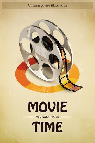 Ilustração de cartaz de cinema vetor