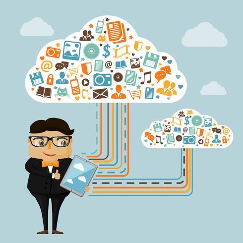 Tecnologias de nuvem para negócios vetor