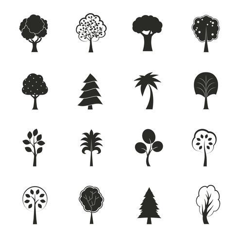 Conjunto de ícones de crescimento ecologia abstrata vetor