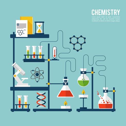 Modelo de plano de fundo de química vetor