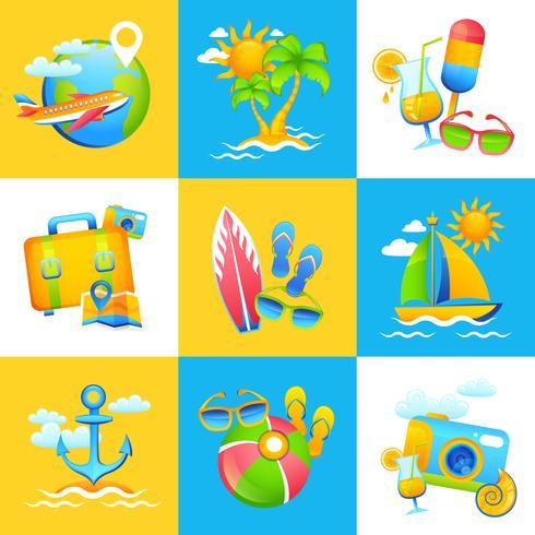 Conceito de Design de férias de verão vetor