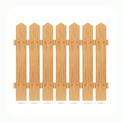 Telha de cerca de madeira vetor