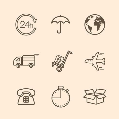 ícones de entrega vetor