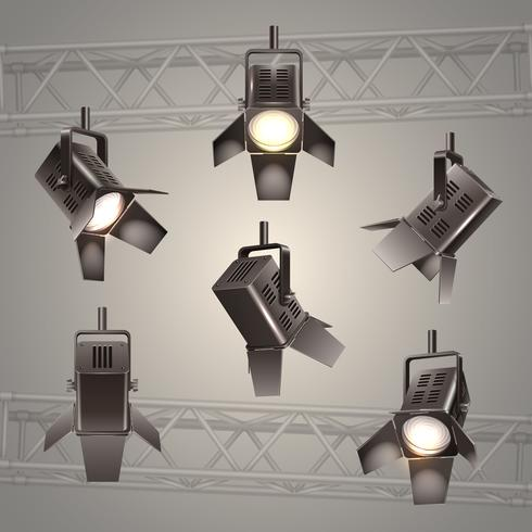 iluminação de palco vetor