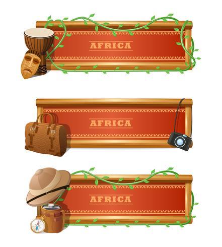Conjunto de Banner Africano vetor