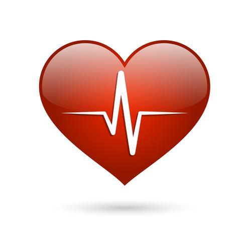 Ícone de taxa de batida de coração vetor