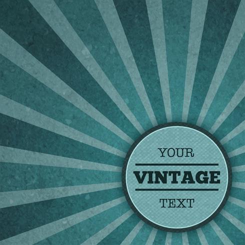 Modelo de anúncio vintage sunburst vetor