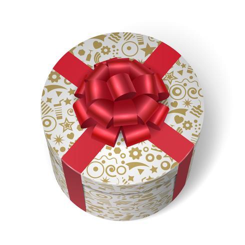 Caixa surpresa com presentes e presentes vetor