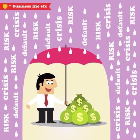 Gestão de risco de dinheiro vetor