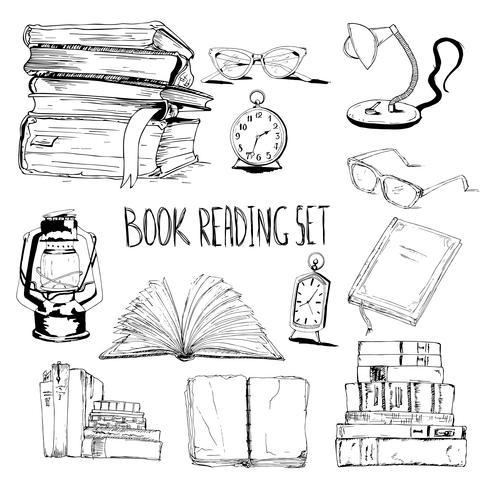 Livros, leitura, jogo vetor