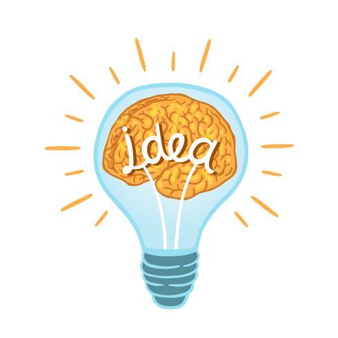 lâmpada criativa vetor