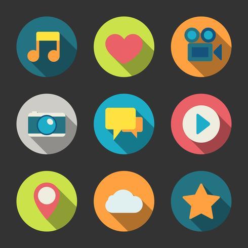 Ícones de mídia social definido para blogar vetor