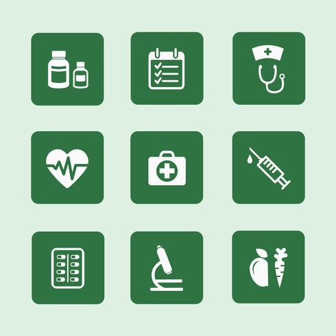 conjunto de ícones de saúde vetor