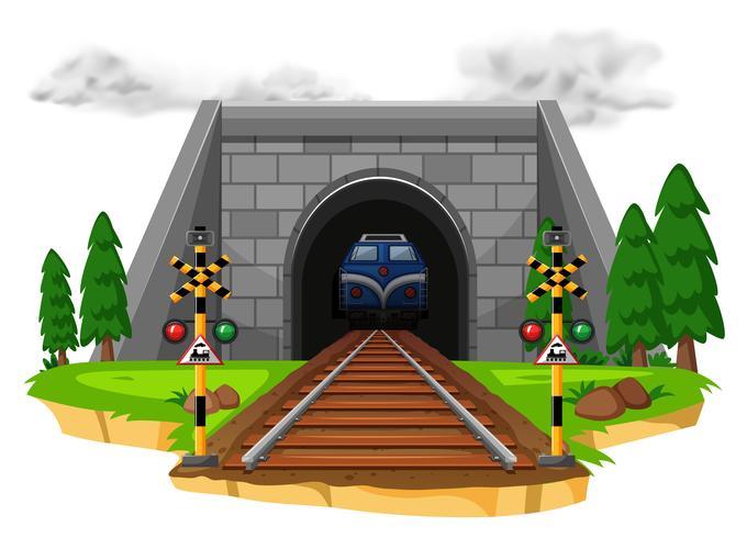 Trem, montando, ferrovia vetor