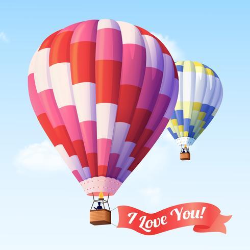 Balão de ar com fita vetor